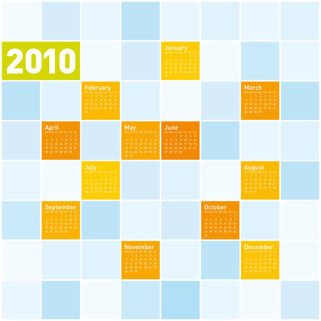Colorful Calendar for year 2010. in vector format. Vector
