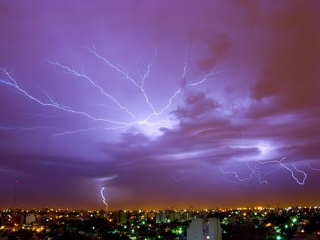 Lightning Storm in Buenos Aires, Argentina.