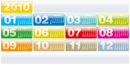 Colorful Calendar for year 2010 Stock Vector - 5646397