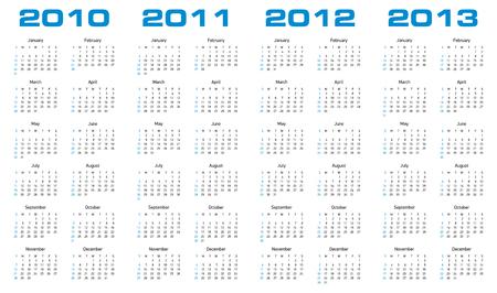 newyear: Calendario simple para los a�os 2010 y 2011, 2012 2013.