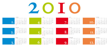 Colorful and elegant Calendar for year 2010 Stock Vector - 5910629