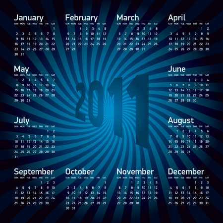 Calendar for year 2011 Stock Vector - 6951757
