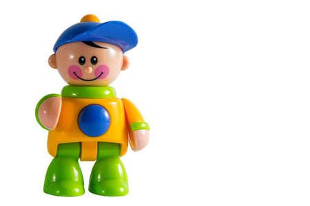juguete: juguete del ni�o en el fondo blanco aislado
