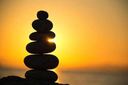 Stones Balance, sunrise shot