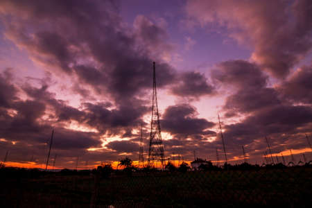 radio tower: Radio Tower with sky background in autumn