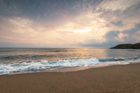 Scenic view of beautiful sunset above the sea. Reklamní fotografie