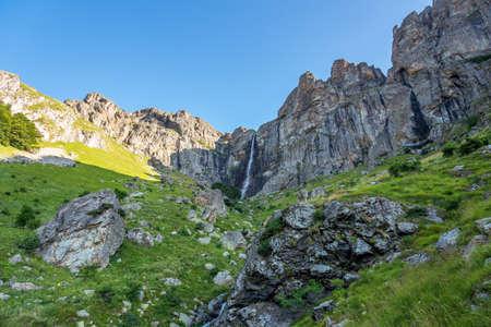 The biggest waterfall in Bulgaria. Banco de Imagens - 129810739