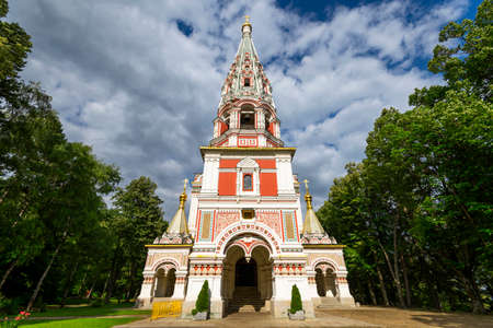Memorial Temple of the Birth of Christ, Russian Style Church in Shipka, Bulgaria.