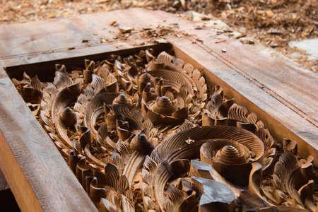 woodcarver Stock Photo