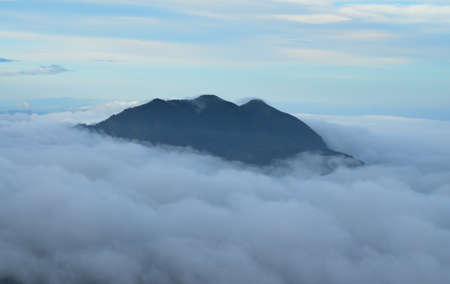 elusive: fog mountain in  Thailand Stock Photo