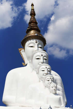 White Buddha at Wat Pha Sorn Kaew Thailand Stock Photo
