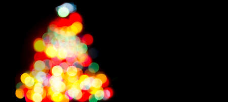 christmas decorations: Christmas Tree with Defocused Fairy Lights, and decorations