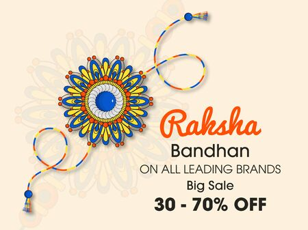 Vector abstract for Raksha Bandhan with nice illustration in a creative background