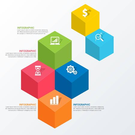Simple Modern Infographics Template Illustration