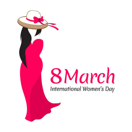 8 march international women's day vector illustration concept, vector banner template on International Women's Day. Happy International Women's Day celebration.