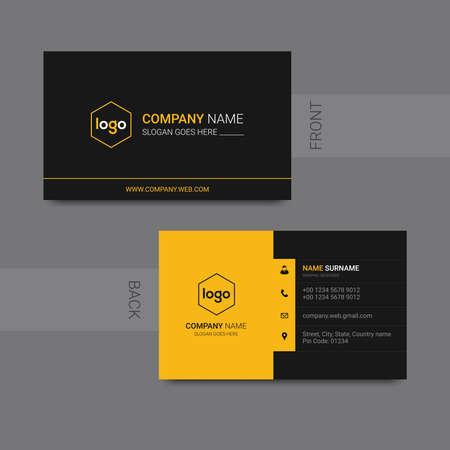 Modern business card modern design vector. Vector illustration.