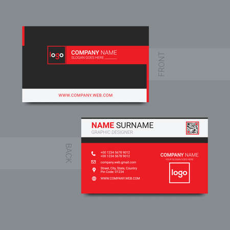 Modern business card template design. With inspiration from the abstract. Contact card for company.