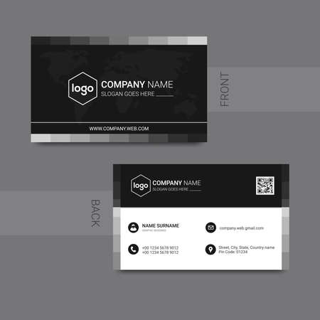 Modern business card template design. With inspiration from the abstract. Contact card for company. Ilustración de vector