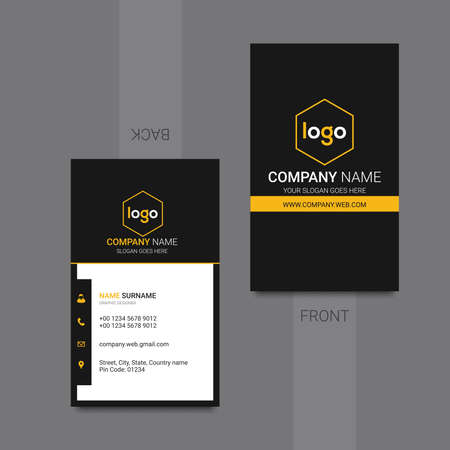 clean Corporate Business card. Vector illustration.