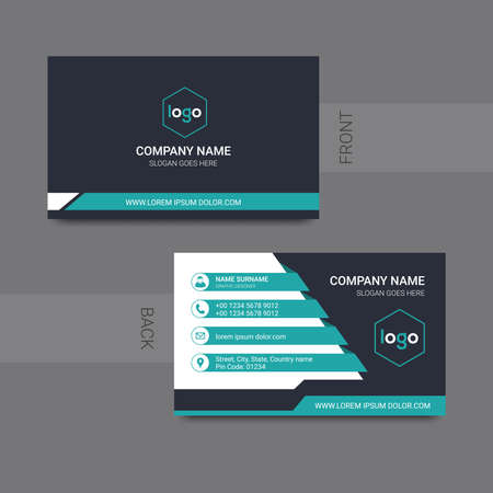 clean Corporate Business card. Vector illustration. Vecteurs