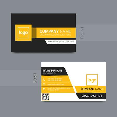 smart modern business card, vector illustration Ilustración de vector