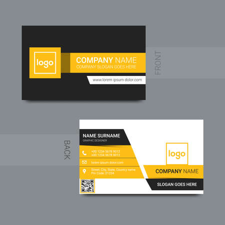 smart modern business card, vector illustration 向量圖像