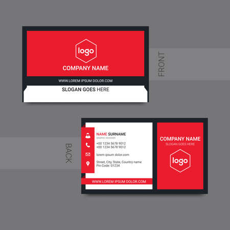 Modern professional business card design vector. Vector illustration. 向量圖像