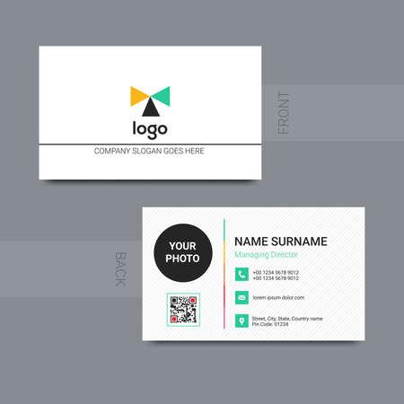 Modern professional business card design vector. Vector illustration.