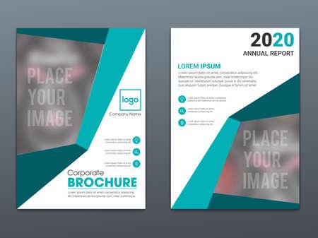 Template vector design for Brochure, Annual Report, Magazine, Poster, Corporate Presentation, Portfolio, Flyer, infographic, layout modern Ilustración de vector