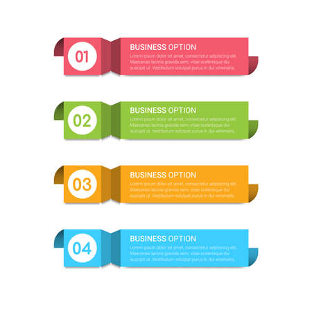 Abstract infographics number options template. Vector illustration. Can be used for steps, options, business processes, workflow, diagram, flowchart concept, timeline, marketing icons, info graphics.