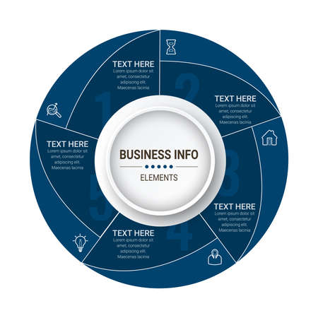 Business Infographics circle origami style Vector illustration. Can be used for flow charts, presentations, web sites, banners, printed materials