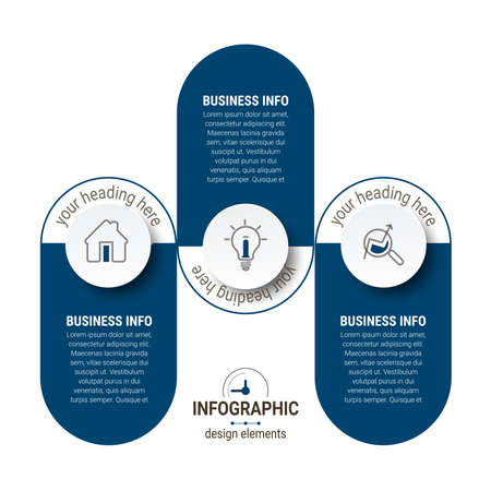 Vector Business infographics. Financial analysis data graphs and diagram, marketing statistic workflow modern business presentation elements vector investment progress icon. Ilustración de vector