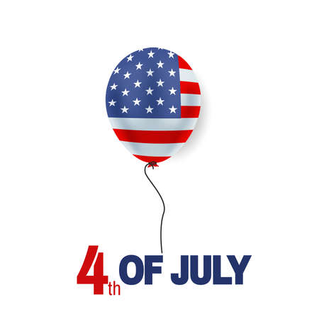 Fourth of July background, USA Independence Day 4th of July typographic design USA