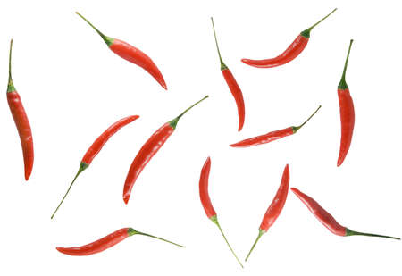 Background from red spices located seldom among themselves