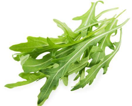 Leaves of the lettuce of rukola Stock Photo