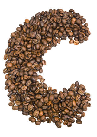 Letter c from the coffee beens