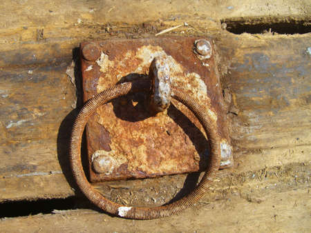 Rusted ring Stock Photo
