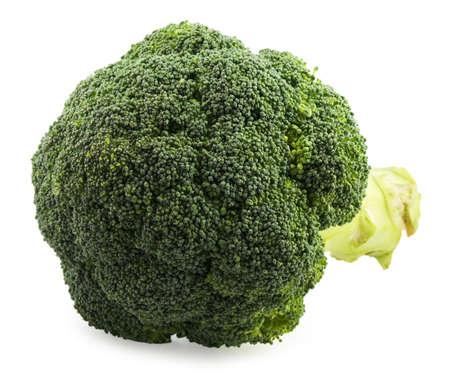 Fresh broccoli on white background Stock Photo