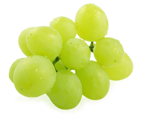 Cluster of grapes with water droplets