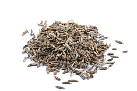 cumin seeds on white background Stock Photo