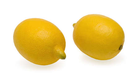 Two lemons lia far apart, isolated