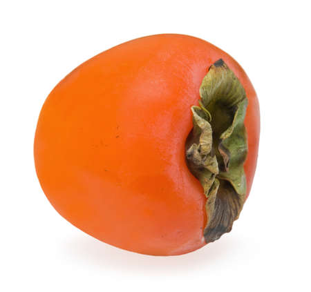 Persimmon lie on the side on  white background Stock Photo
