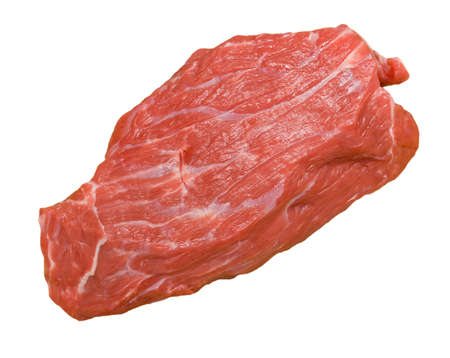 Piece of beef on white background Stock Photo