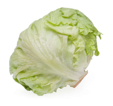 Cabbage lettuce on white background Stock Photo