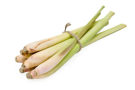 Bunch of lemongrass on white background