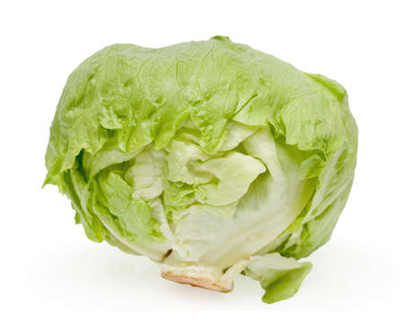 Cabbage lettuce on white background Stock Photo