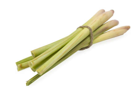 Bunch lemongrass on white background Stock Photo