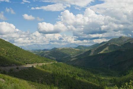 Barhalinsky mountain pass in Russia Stock Photo