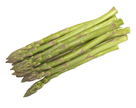 Bunch of asparagus in white background Stock Photo