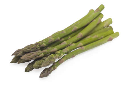 Bunch of asparagus on white background